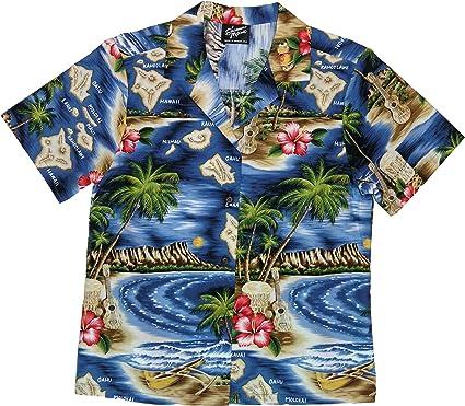 7e26899a Amazon.com: RJC Women's Hibiscus Hawaiian Island Hawaiian Camp Shirt:  Clothing