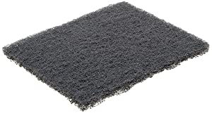 """Norton Synthetic Steel Wool Pad, Polyester Fiber, 5-1/2"""" Length x 4-3/8"""" Width, Grit Type 000 (Pack of 2)"""