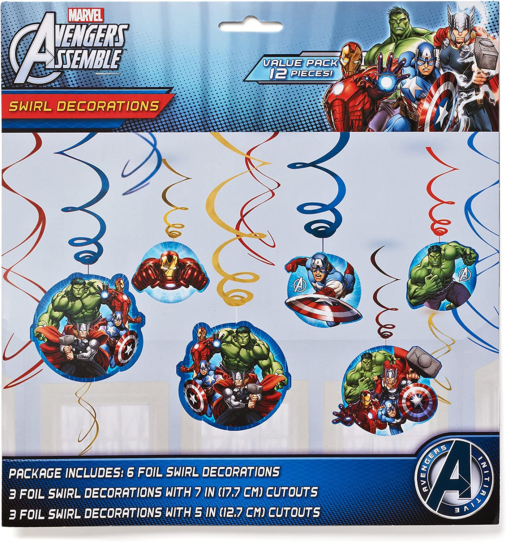 amscan Avengers Hanging Swirl Decorations 12 pcs.