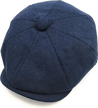 Hats of London Mens Premium 100/% Wool Newsboy Cap 8 Panel Baker Boy Flat Cap