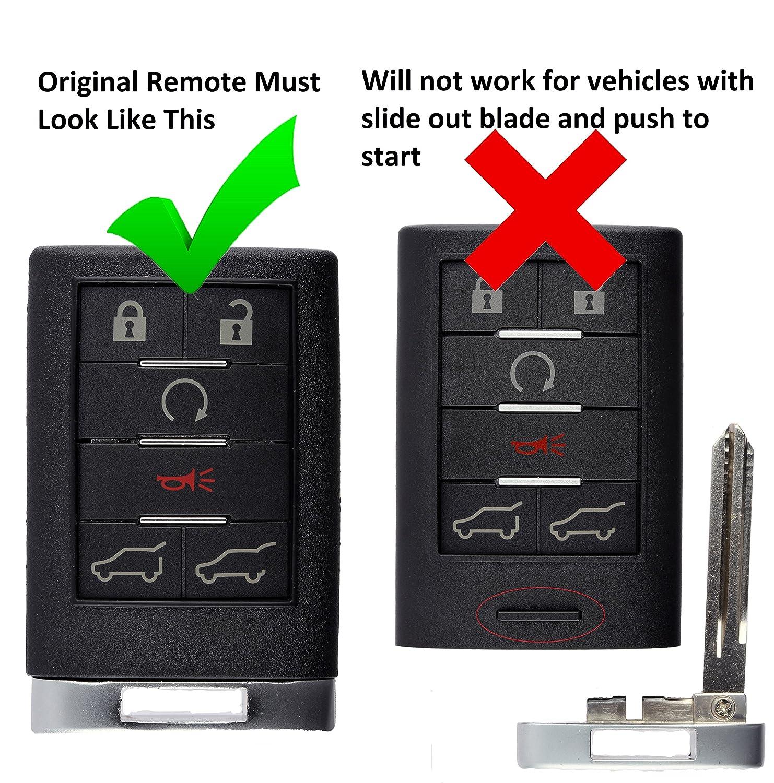EXT KeylessOption Keyless Entry Remote Control Car Key Fob Replacement for Cadillac Escalade ESV