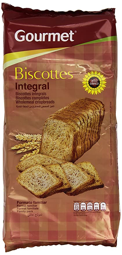 Gourmet Biscottes Integral - 750 g