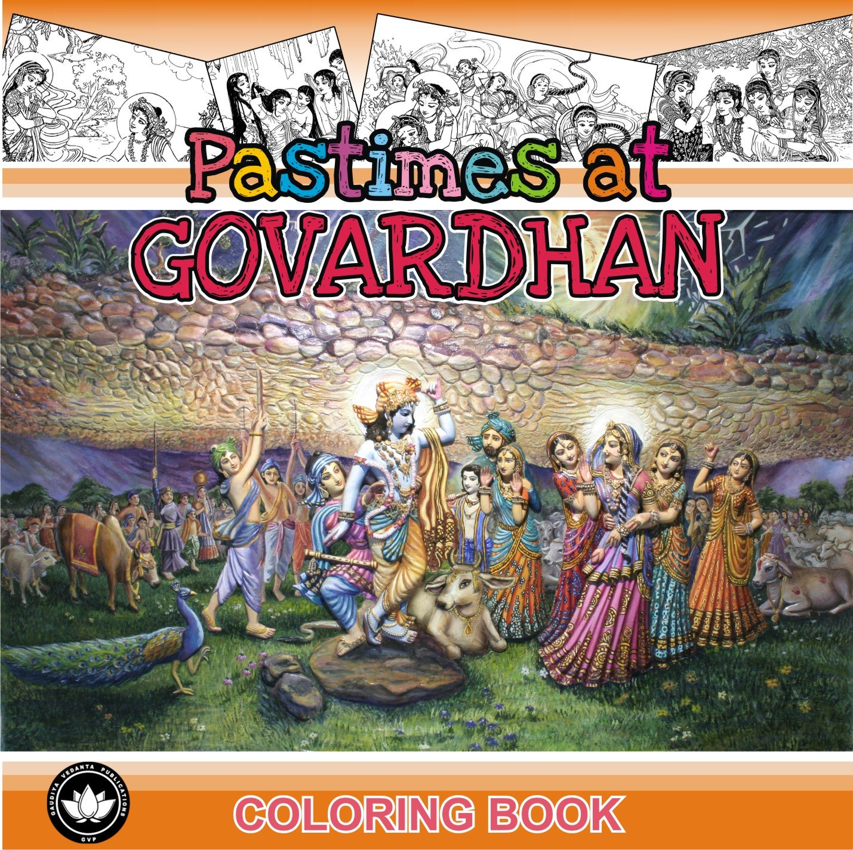 Download Pastimes at Govardhana, Coloring Book pdf epub