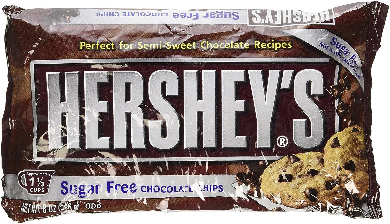 Amazon.com : Hershey's Sugar Free Semi-Sweet Baking Chips, 8-Ounce ...