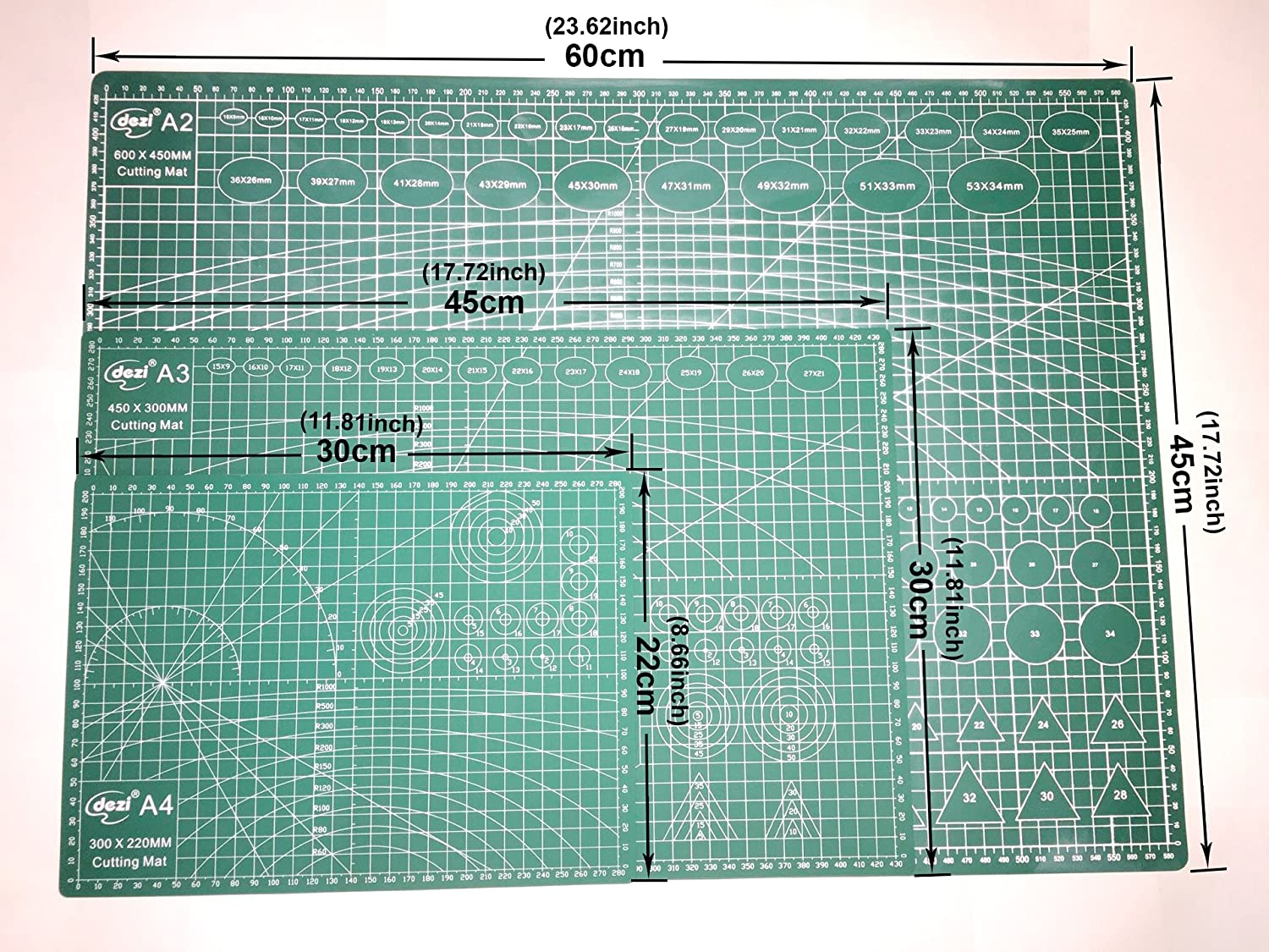Amazon.com: A99 Cutting Mat A2 / A3 / A4 Board (A2 - 60 cm x 45 cm)