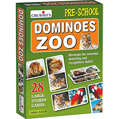 Creative Educational Pre-School Zoo Dominoes: Toys & Games