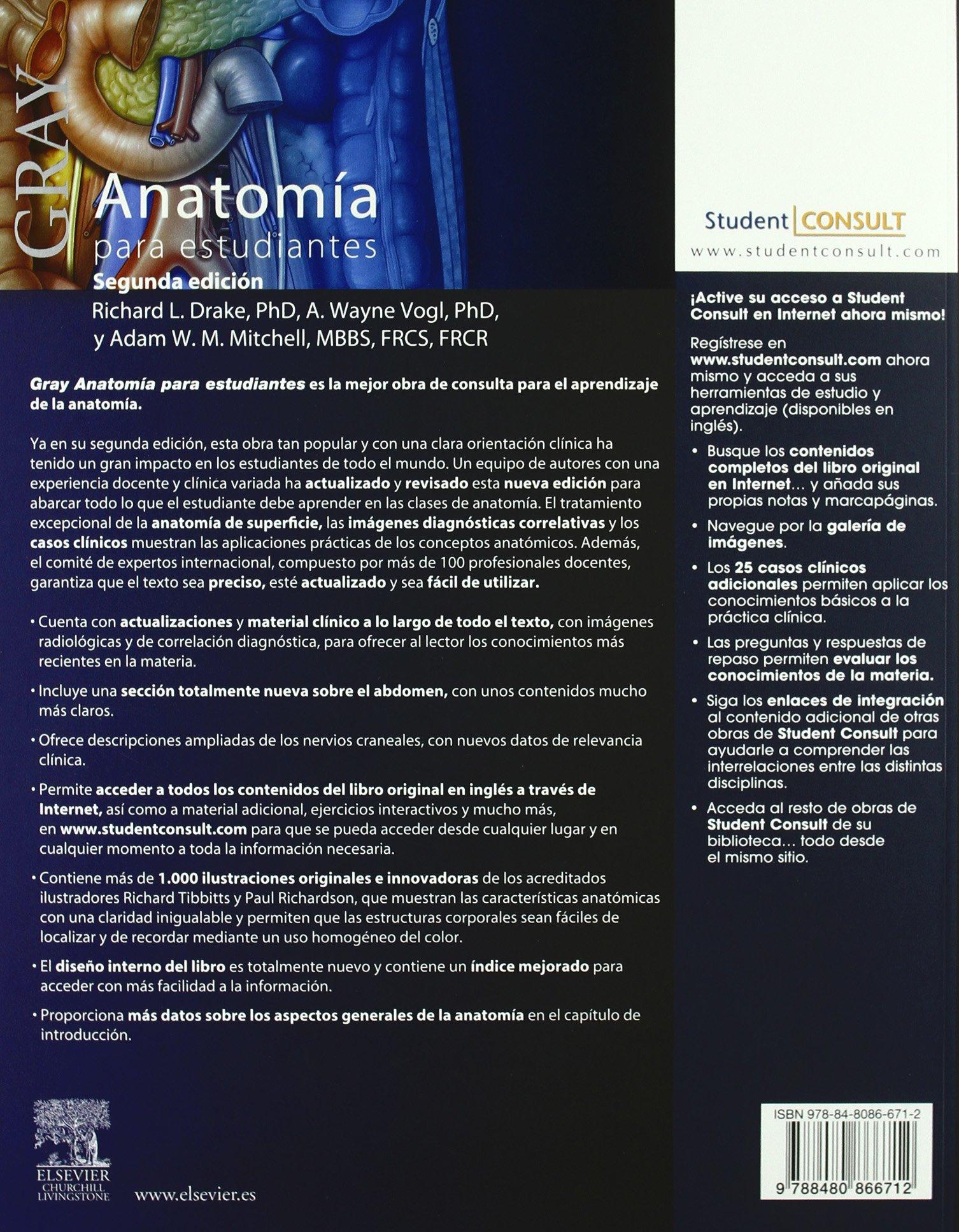 GRAY. Anatomía para estudiantes + Student Consult: Amazon.es: R.L. ...