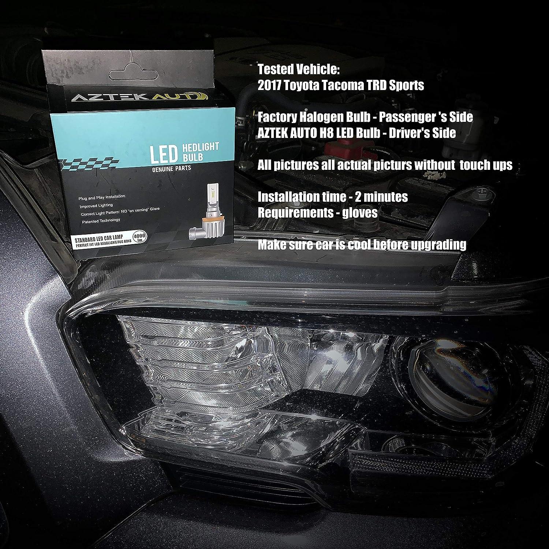 LED Headlight Kit Protekz Bulb H11 6000K Low Beam for 2016-2016 Toyota TACOMA