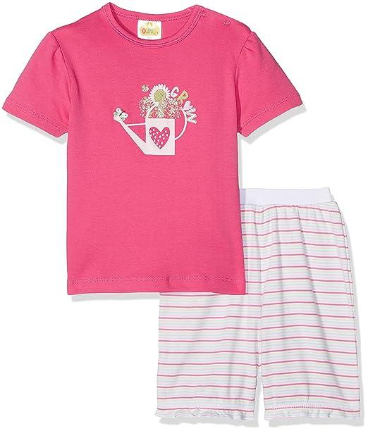 DIMO-TEX Pyjamashorty My Lovely Garden 2tlg, Conjuntos de Pijama para Bebés, (