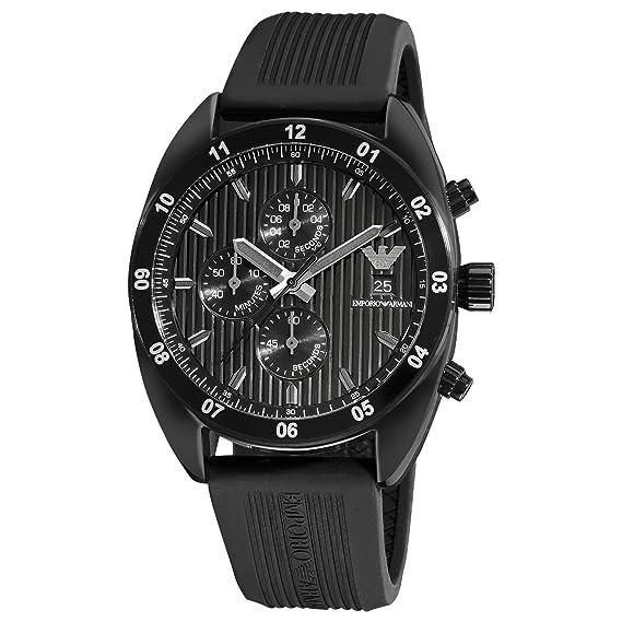 Emporio Armani AR5928 - Reloj de cuarzo para hombre, con correa de goma, color