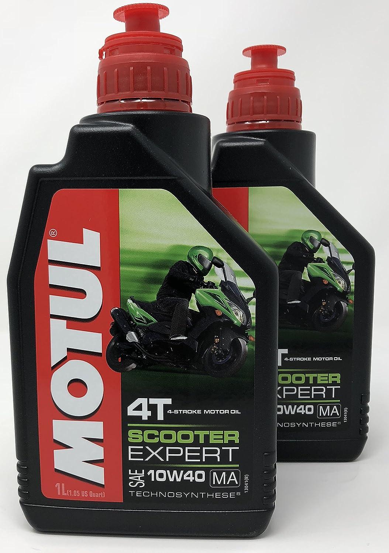 Aceite Moto - Motul Scooter Expert 4T 10W-40, 2 litros (2x1 lt): Amazon.es: Coche y moto