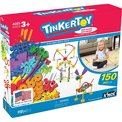 TINKERTOY – Essentials Value Set – 150 Pieces – Ages 3+ Preschool Educational Toy: Toys & Games