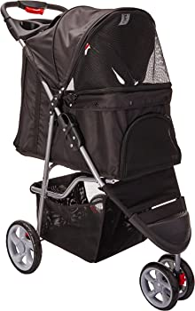 Pet Stroller Cat Dog 3 Wheel Walk Jogger Travel Folding Carrier