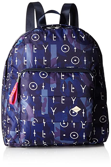 Oilily - Ruffles Backpack Lvz, Mochilas Mujer, Blau (Dark Blue), 14x36.5x31 cm (B x H T): Amazon.es: Zapatos y complementos