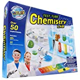 WILD! Science Test Tube Chemistry Lab - 50+ Fun Experiments and Reactions for Kids Aged 8+ - Explore STEM - Learn About Solids, Liquids, Gases and More!