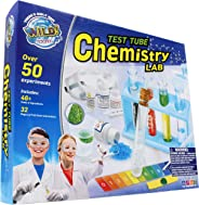 WILD! Science Test Tube Chemistry Lab - 50+ Fun Experiments and Reactions for Kids Aged 8+ - Explore STEM - Learn About Solid
