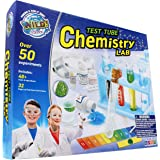 WILD! Science - WS90XL Test Tube Chemistry Lab - 50+ Fun Experiments and Reactions for Kids Aged 8+ - Explore STEM - Learn Ab