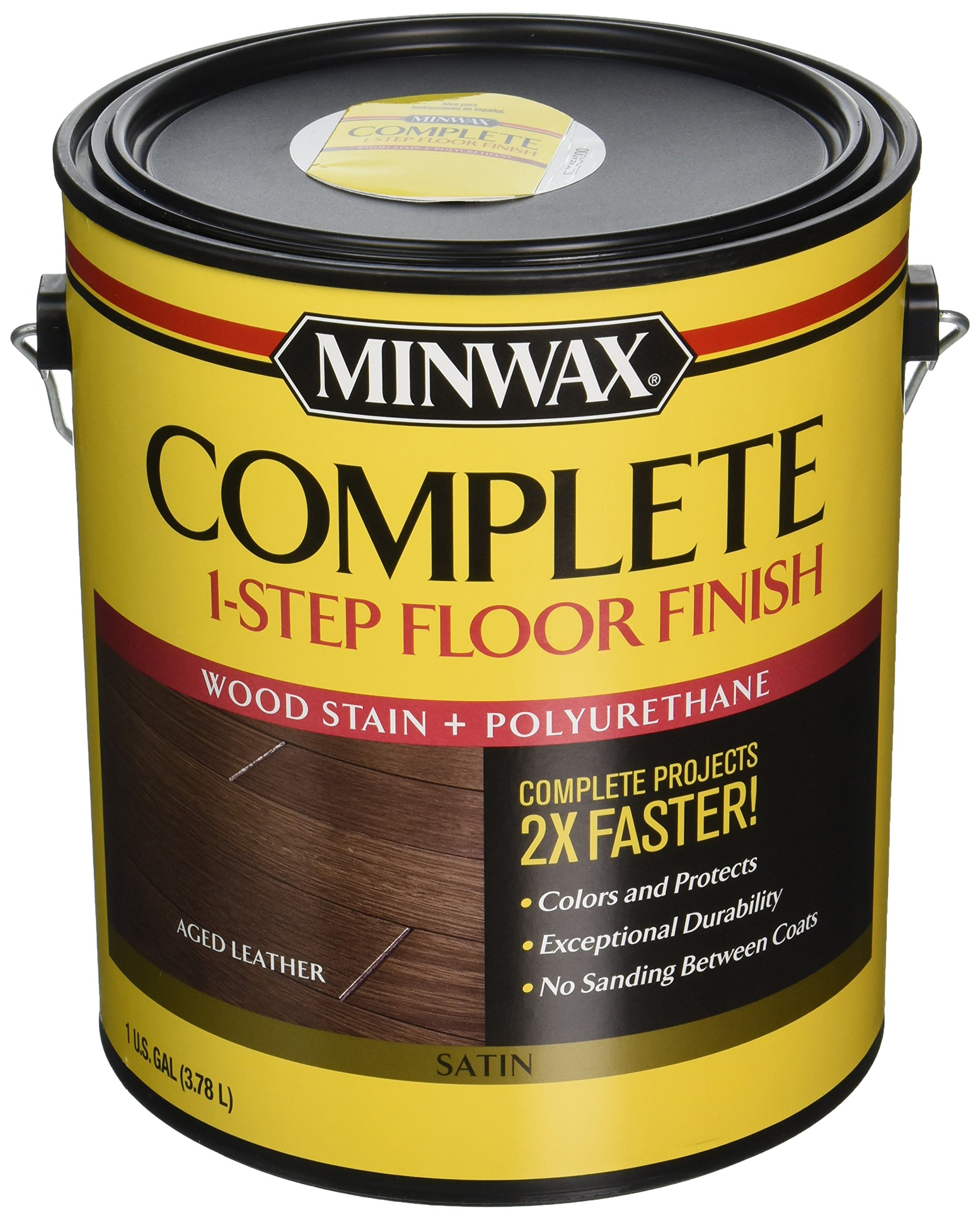Minwax 672050000 67205 1G Satin Aged Leather Complete 1-Step Floor Finish