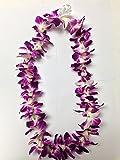 Fresh Hawaiian Purple Orchid Flower Lei, Single Strand