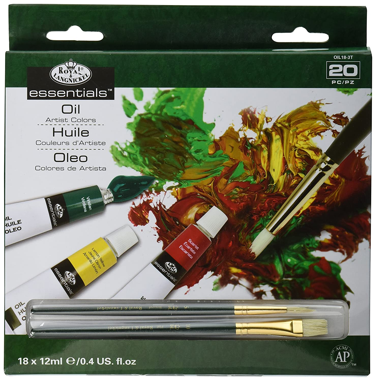 Royal & Langnickel - Juego de 18 tubos de pintura (12 ml), tintas multicolor