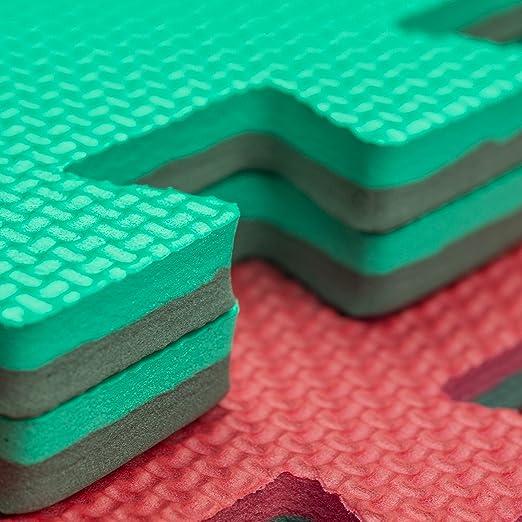 8 x Suelos Para Niños Y Infantiles EVA Puzzle Colchonetas 60 Centímetros x 60 Centímetros x12mm Con Reverso Antideslizante, Certificacion Libre De ...