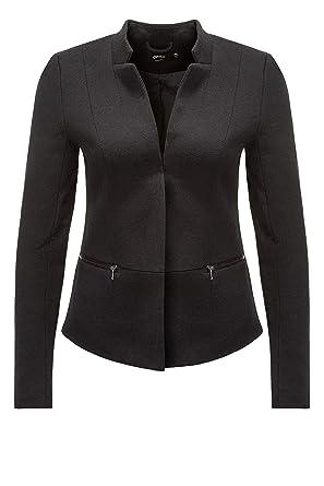 373e4e4219fa1 ONLY NOS Onlstory Maddy Mel Zip Blazer Noos TLR, Veste De Costume Femme,  Noir