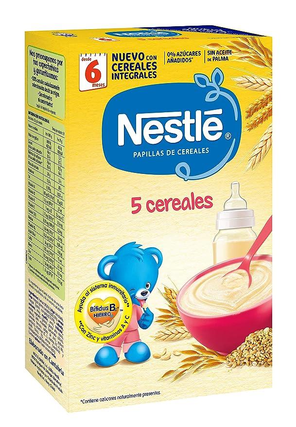 Nestlé Papillas Alimento infantil preparado a base de cereales - 600 gr: Amazon.es: Alimentación y bebidas