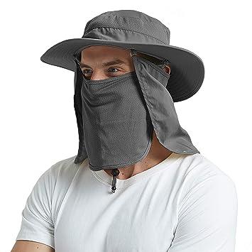 EINSKEY - Sombrero de Pesca con Cara de Cuello Desmontable, protección Solar, Impermeable,