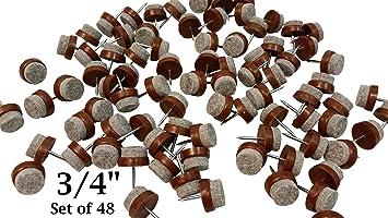 Felt Bottom Nail On Chair Glides Protect Tile U0026 Hardwood Floors 3/4u0026quot;
