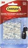 Command Hooks Transparent Plastics 6 Hook/8 S Size Bands-white