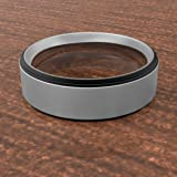 Tungsten Rings for Men Wedding Bands for Him 8mm
