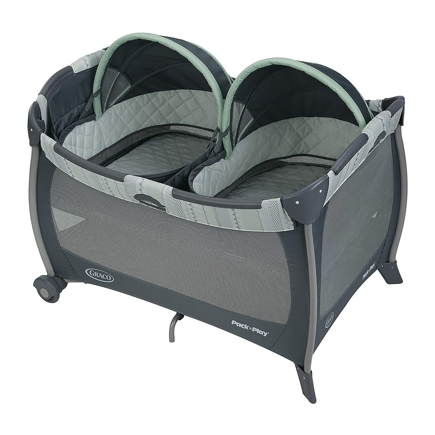 Graco Pack 'n Play Playard with Bassinet for Twins, Mason