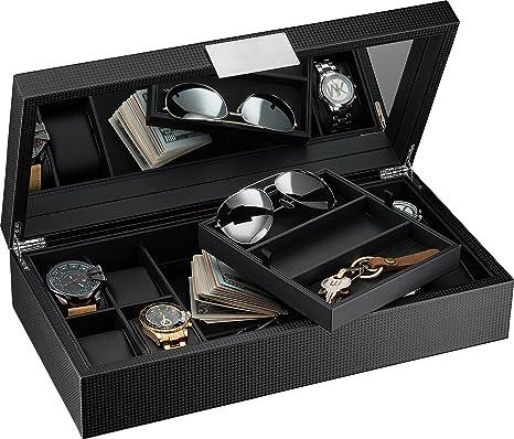 Amazon.com: Glenor Co - Caja de reloj y gafas de sol con ...