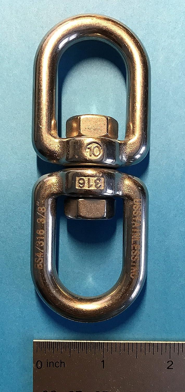 Stainless Steel 316 Anchor Swivel Eye Eye 10mm 3//8 Marine Grade