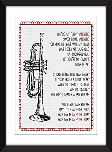 Amazon Com Chet Baker My Funny Valentine Lyrics Unframed Print