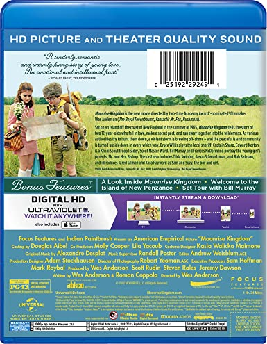 Amazon Com Moonrise Kingdom Blu Ray Bruce Willis Edward Norton