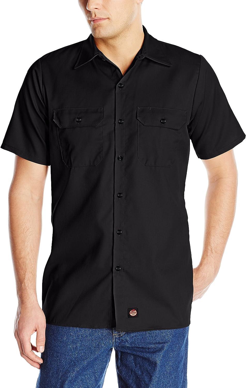 Red Kap Men/'s Long Sleeve Heathered Uniform Work Shirt Charcoal