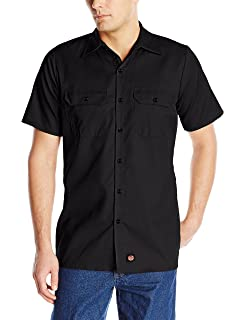 13566754 Amazon.com: Red Kap Men's Industrial Work Shirt, Regular Fit, Short ...