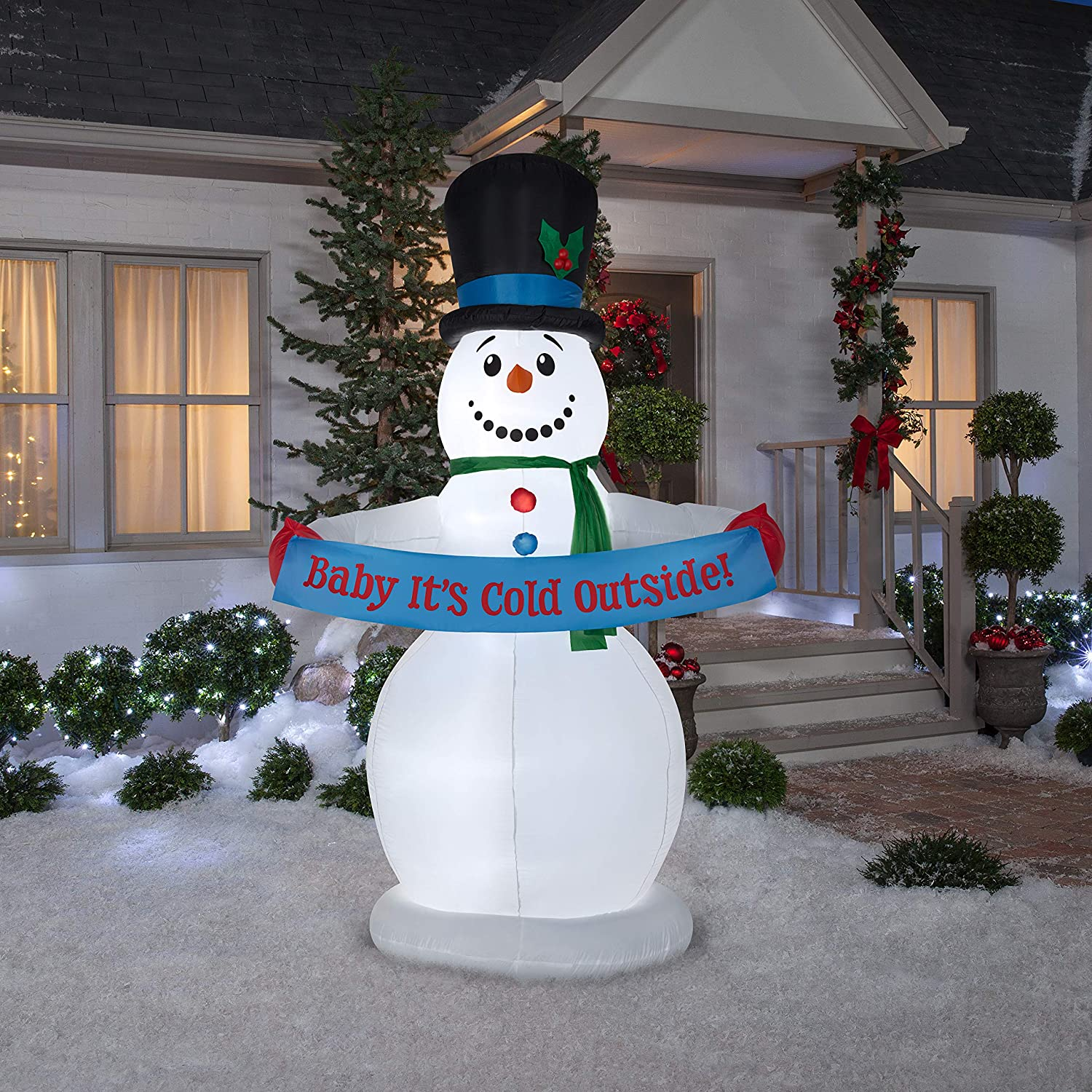 Animated Christmas Inflatable Snowman w/Banner! .99 (REG: .95) at WOOT!