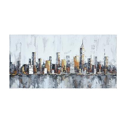 Amazon.com: Crescent Art New York Skyline Cityscape Wall Art for ...