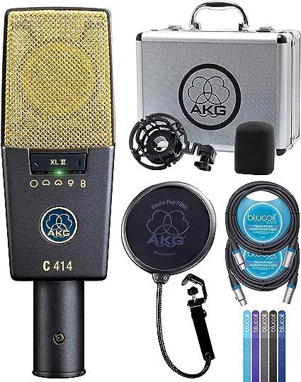 AKG C414 XLII Micrófono de condensador multipatrón para Pro Studio ...