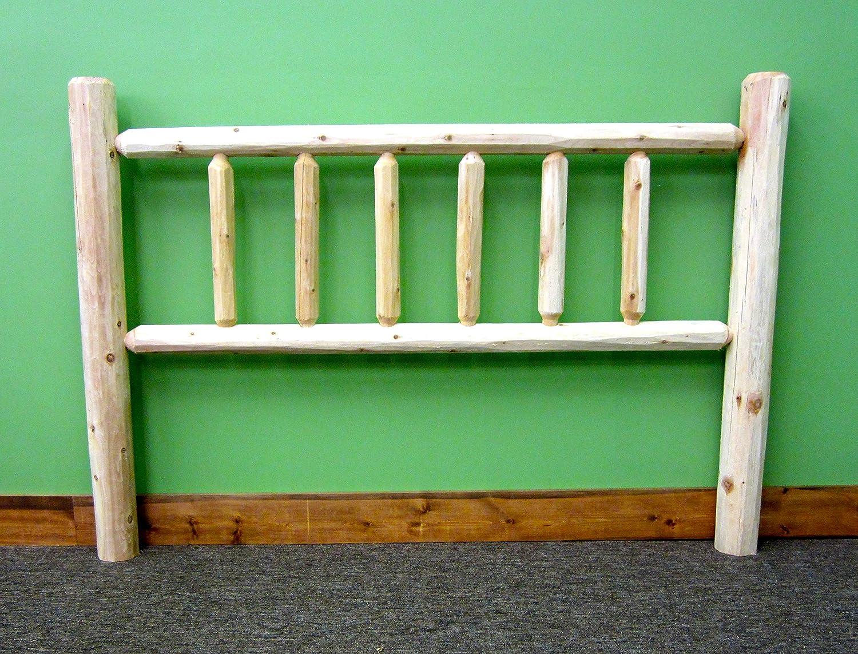 Midwest Log Furniture - Premium Log Headboard - Twin