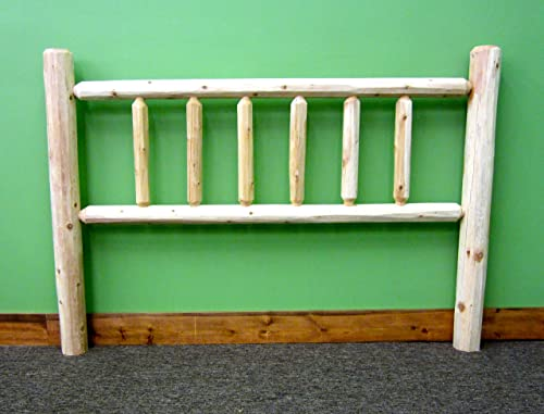Midwest Log Furniture – Northern Premium Log Headboard – Queen
