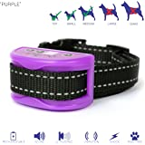 Purple Bark Collar For XS – Medium Sized Dogs – Beep – Ultrasonic – Vibration - Adjustable Shock - Rechargeable - No Pain Anti Bark Collars - 10lb to 65lb – No More Expensive Batteries – Easy to Use.