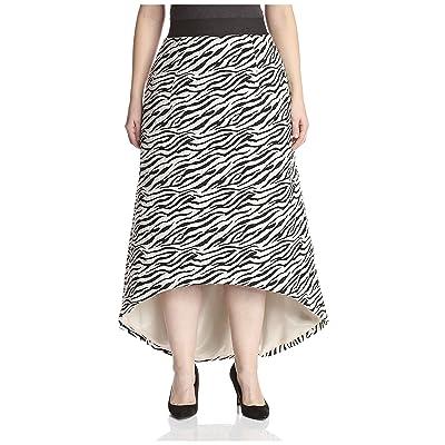 A.B.S. by Allen Schwartz Plus Women's Jacquard High Low Skirt, Black/Ivory, 18W at Amazon Women's Clothing store