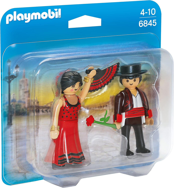 PLAYMOBIL Duo Pack- Flamenco Dancers Duo Pack Bailaores Figura con Accesorios, Multicolor (6845)