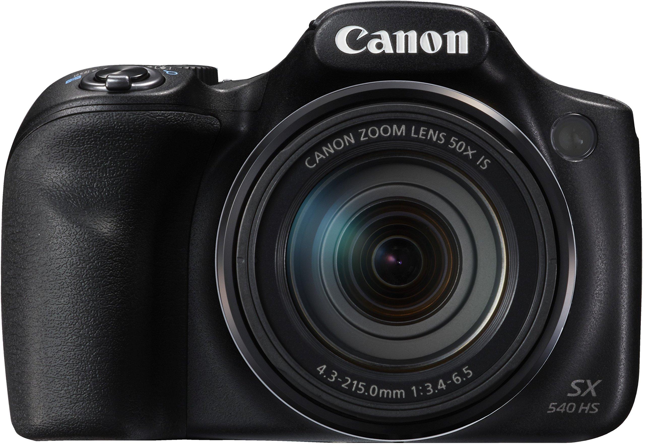 "Canon PowerShot SX540 HS - Cámara Digital de 20.3 MP (Pantalla de 3"", Zoom óptico de 50x, NFC, WiFi), Negro product image"