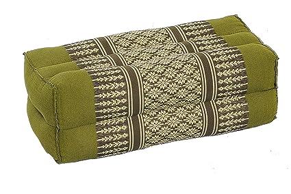 Cojín rectangular con relleno de kapok - 35 x 15 x 10 cm Perfecto para yoga, meditación y relajación.