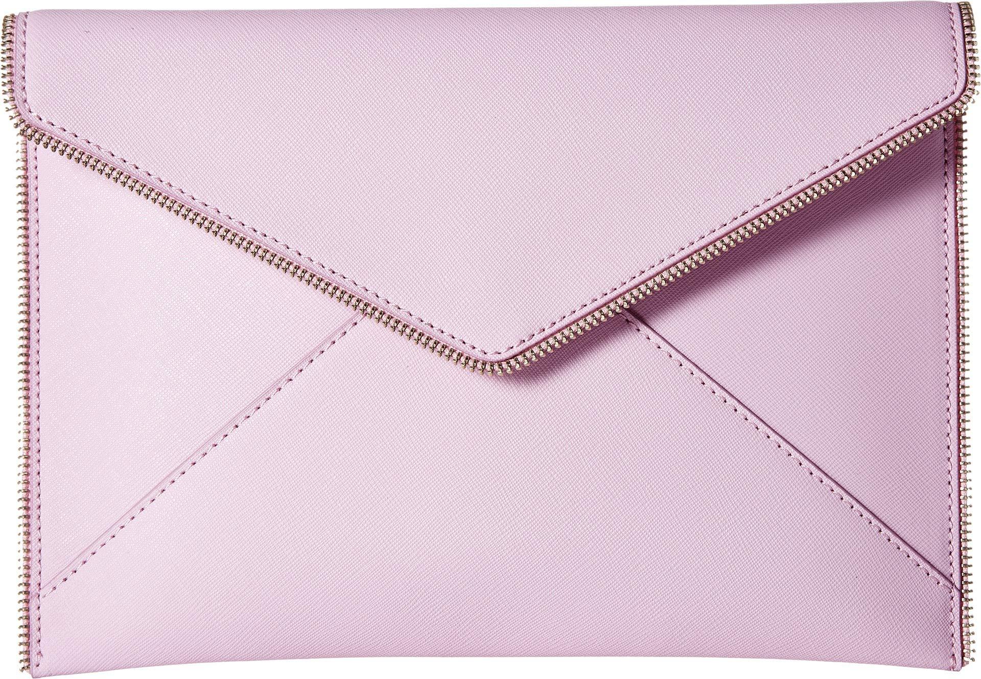 Rebecca Minkoff Women's Leo Clutch, Light Orchid, Purple, Pink, One Size
