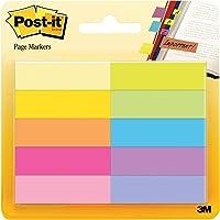 Post-It 670-10AB Page Marker Plakstrips, Smal 12,7 x 44,4 mm, 10 x 50 Vellen, Meerkleurig